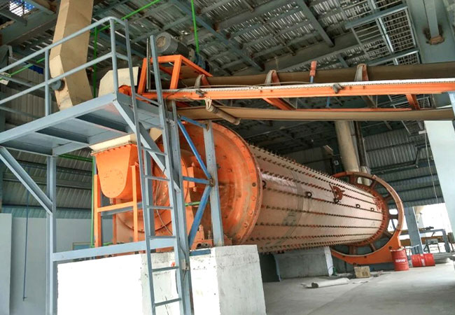 Ball mill in Indian cement plant