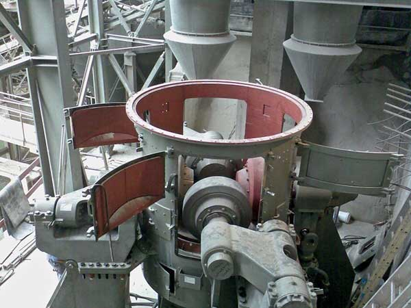 The inner structure of vertiacal coal grinding mill