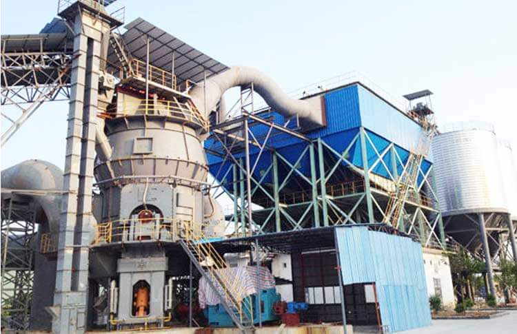The vertical cement mill in cement plant