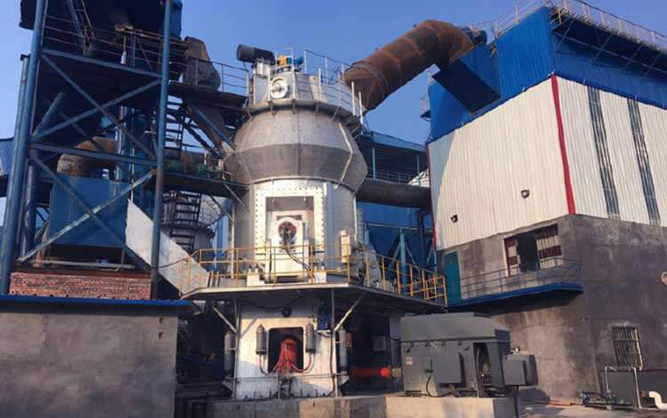 Vertical raw mill in cement factory
