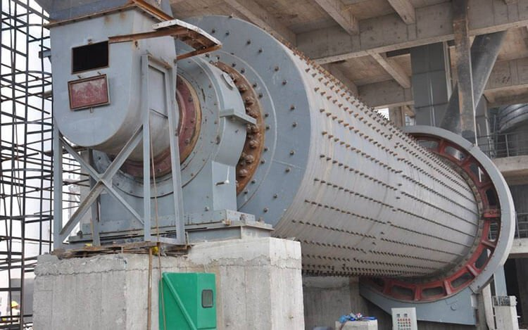 Continuous type ball mill for industrial use