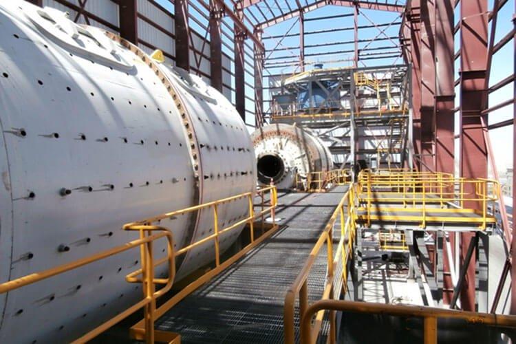 Dry ball mill process