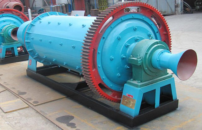 This is a small ball mill