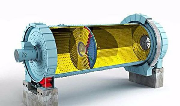 The structure of rotary ball mill
