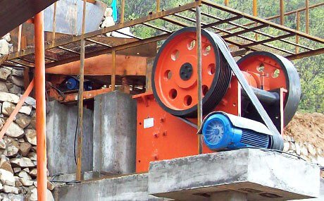 Crusher in silver ore beneficiation plant